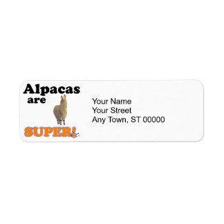 alpacas are super return address label