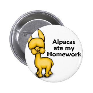 Alpacas ate my Homework 2 Inch Round Button