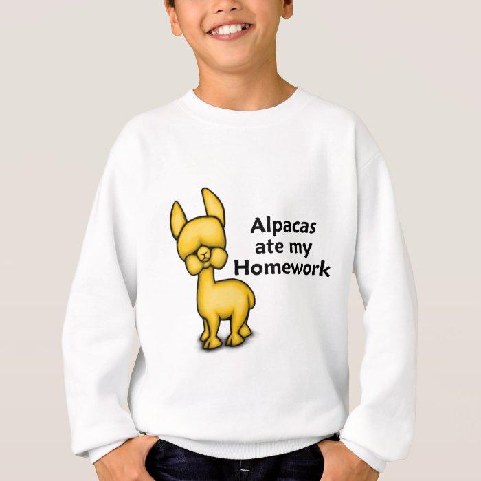 Alpacas ate my Homework Sweatshirt