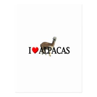 """Alpacas del """"corazón I"""" Postal"""