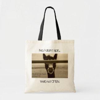 Alpacas Don't Spit Budget Tote Bag