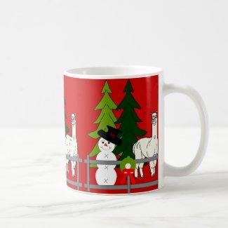 Alpacas Fun In The Snow Christmas Coffee Mug