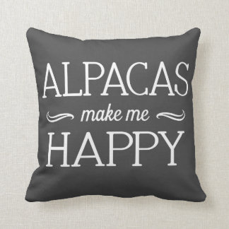 Alpacas Happy Pillow - Assorted Styles & Colors