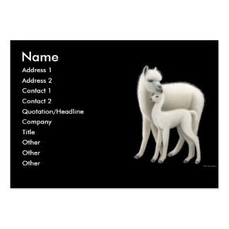 Alpacas Profile Card Large Business Cards (Pack Of 100)