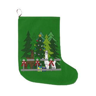 Alpacas Rock Christmas Holiday Season Stocking Large Christmas Stocking