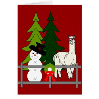 Alpacas Rock Seasons Greetings Card