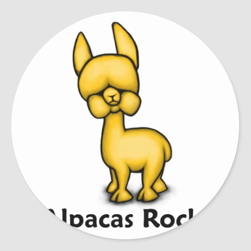 Alpacas Rock! Stickers