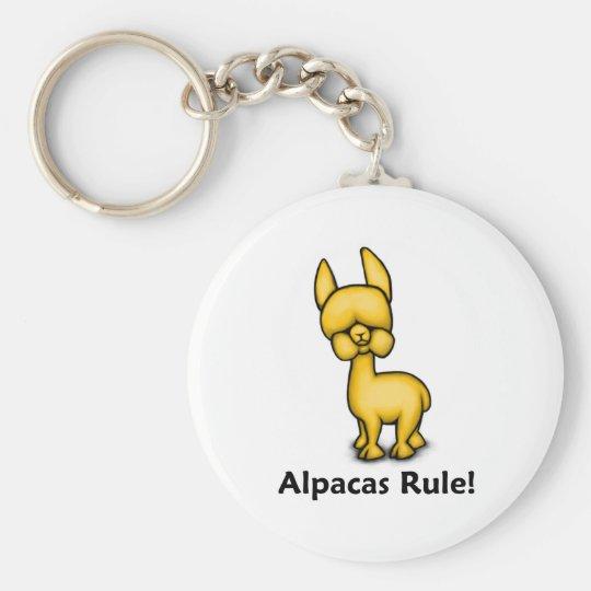 Alpacas Rule! Keychain