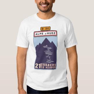 ALPE D'HUEZ 21 ESQUINAS a la camiseta del CIELO Remeras