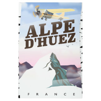 Alpe d'Huez, France ski travel poster