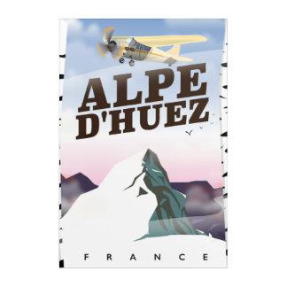 Alpe d'Huez, France ski travel poster Acrylic Wall Art