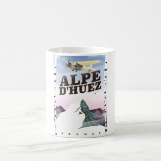 Alpe d'Huez, France ski travel poster Coffee Mug