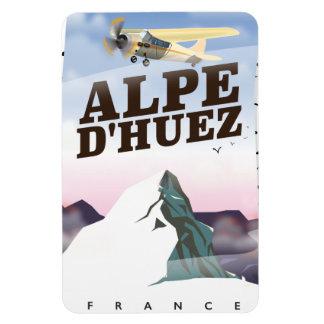 Alpe d'Huez, France ski travel poster Magnet