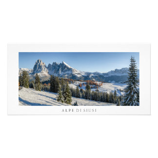 Alpe di Siusi winter landscape photo card