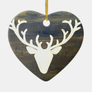 Alpen Chalet Style Deer Ceramic Ornament