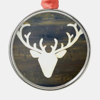 Alpen Chalet Style Deer Metal Ornament