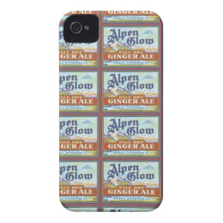 Alpen Glow Ginger Ale Label iPhone 4 Case-Mate Case