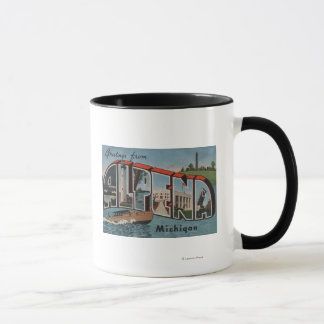 Alpena, Michigan - Large Letter Scenes Mug
