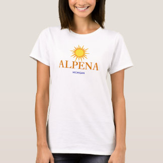 Alpena, Michigan - with Gold Sun Icon T-Shirt