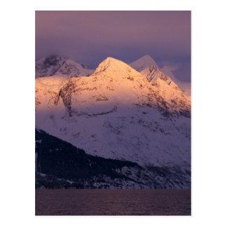 Alpenglow impresionante postales