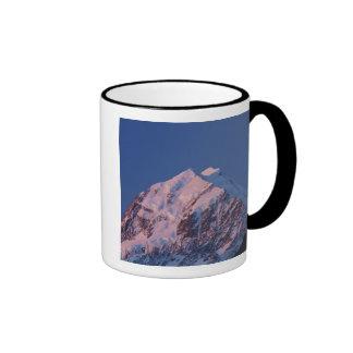 Alpenglow on Aoraki Mount Cook, Mackenzie 2 Mugs