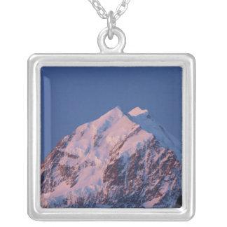 Alpenglow on Aoraki Mount Cook, Mackenzie 2 Silver Plated Necklace