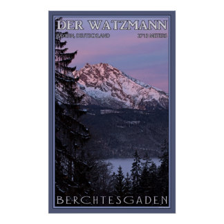 Alpenglow on Der Watzmann Poster