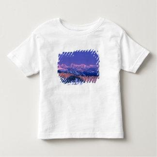 Alpenglow strikes the peaks of Glacier Toddler T-shirt