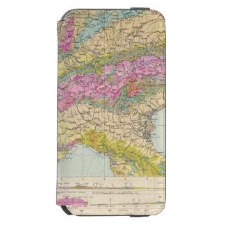 Alpenlander - Atlas Map of the Alps iPhone 6/6s Wallet Case