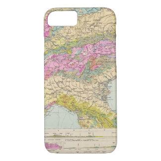 Alpenlander - Atlas Map of the Alps iPhone 7 Case