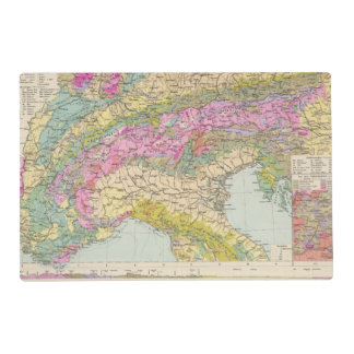Alpenlander - Atlas Map of the Alps Placemat