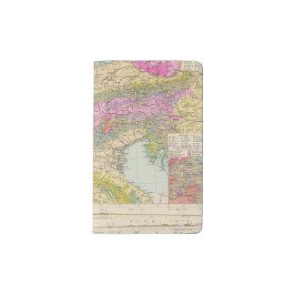 Alpenlander - mapa del atlas de las montañas funda para libreta y libreta pequeña moleskine