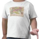 Alpenlander - mapa del atlas de las montañas camisetas