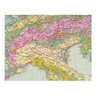 Alpenlander - mapa del atlas de las montañas postal