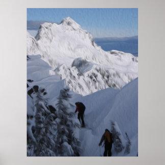 Alpental Art - Over the top - Digital Oil Poster