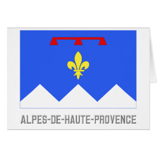 Alpes-de-Haute-Provence flag with name Card