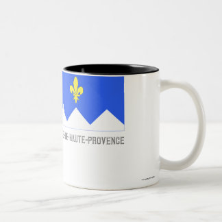 Alpes-de-Haute-Provence flag with name Two-Tone Coffee Mug