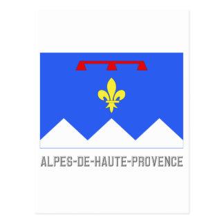 Alpes-de-Haute-Provence flag with name Postcard