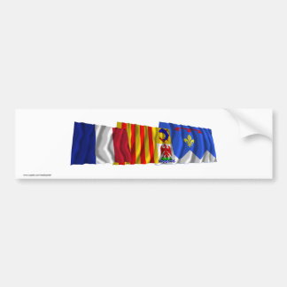 Alpes-de-Haute-Provence, PACA & France flags Car Bumper Sticker