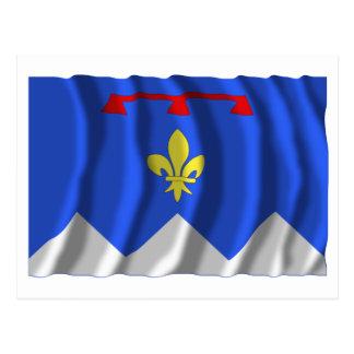 Alpes-de-Haute-Provence waving flag Postcard