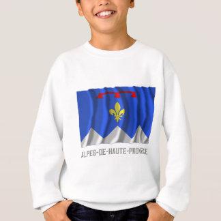 Alpes-de-Haute-Provence waving flag with name Sweatshirt