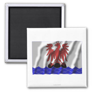 Alpes-Maritimes waving flag 2 Inch Square Magnet