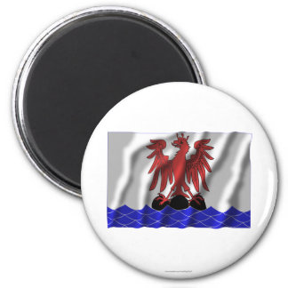 Alpes-Maritimes waving flag 2 Inch Round Magnet