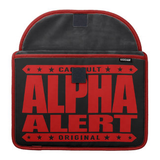 ALPHA ALERT - Hard Work Leads To Success, Red MacBook Pro Sleeves