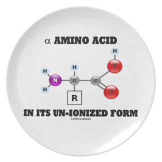 alpha Amino Acid In Its Un-Ionized Form (Molecule) Plate