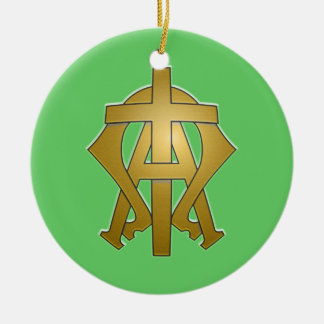 Alpha and Omega Ceramic Ornament