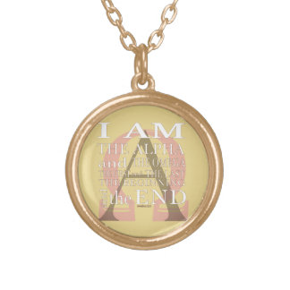 Alpha and Omega Gold Plated Necklace