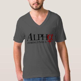 Alpha Androgynous Triangle V-Neck T-Shirt