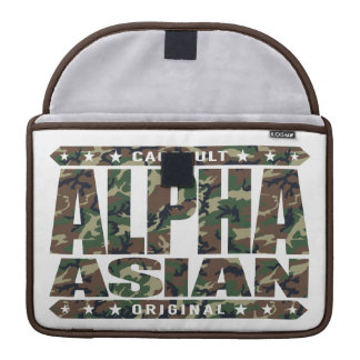 ALPHA ASIAN - On Top of Genetic Food Chain, Camo Sleeve For MacBook Pro