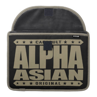 ALPHA ASIAN - On Top of Genetic Food Chain, Gold Sleeve For MacBooks
